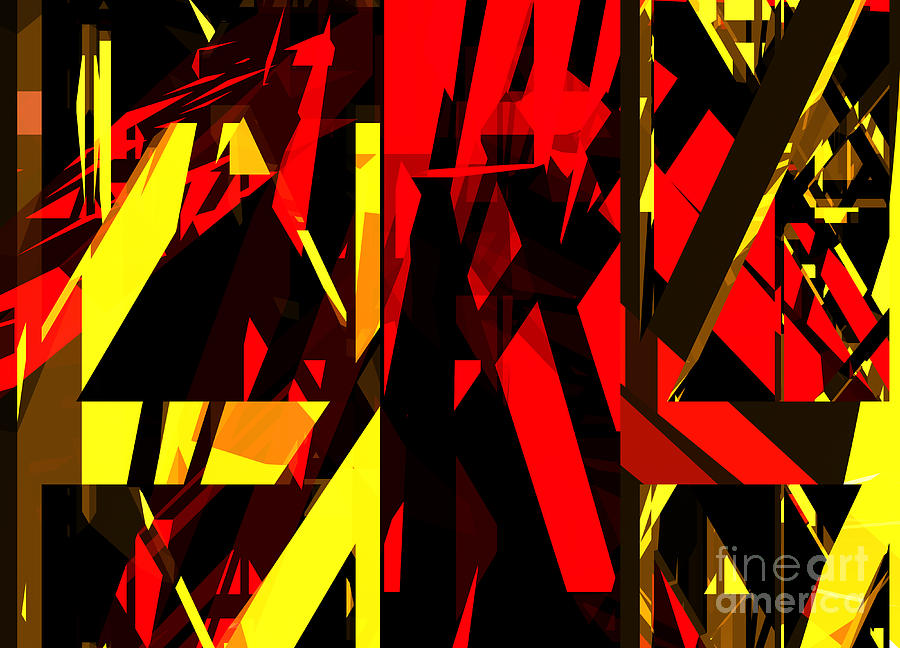 Abstract Digital Art - Abstract Sine L 20 by Russell Kightley