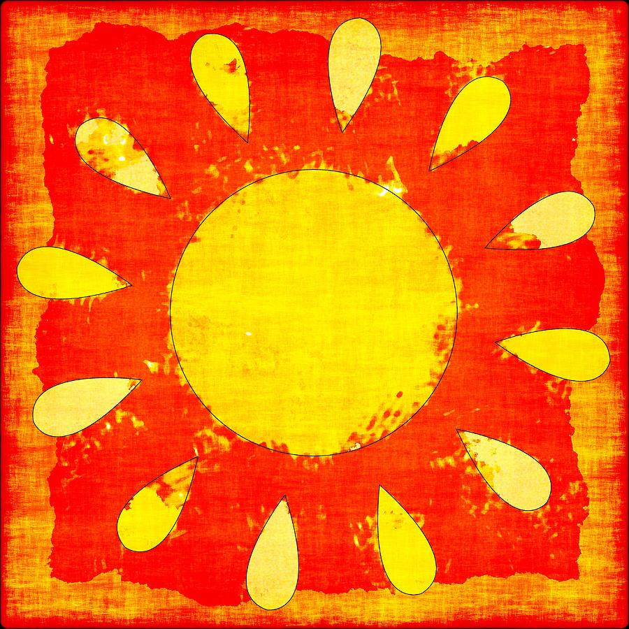 Sun Photograph - Abstract Sun by David G Paul