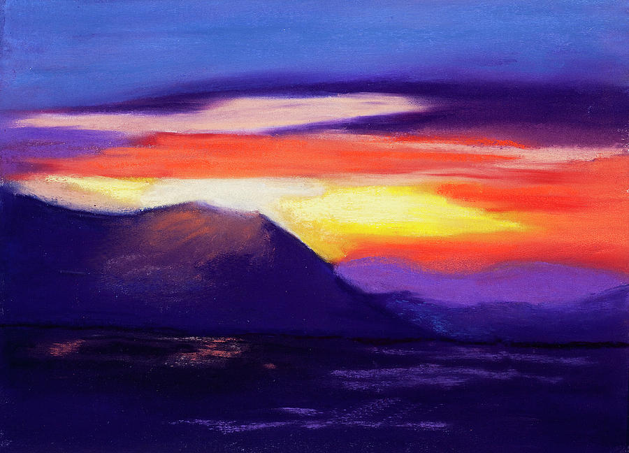 Abstract Sunset Is A Pastel By Diana Tripp Which Was Uploaded On