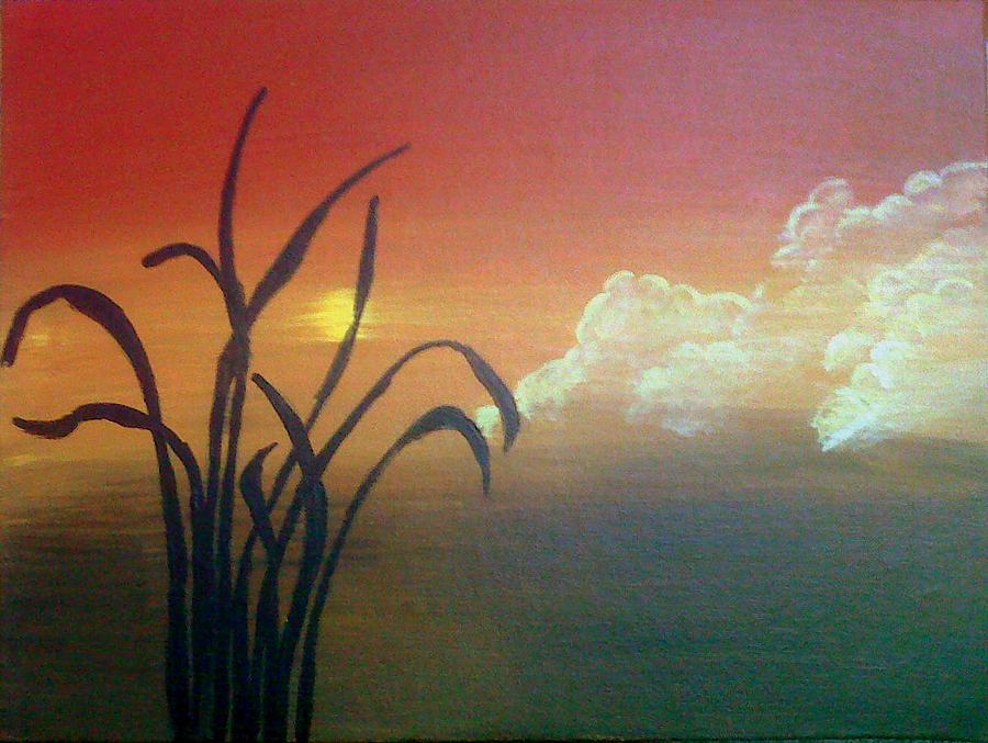 Sunset Painting - Abstract Sunset by Divya Garapati