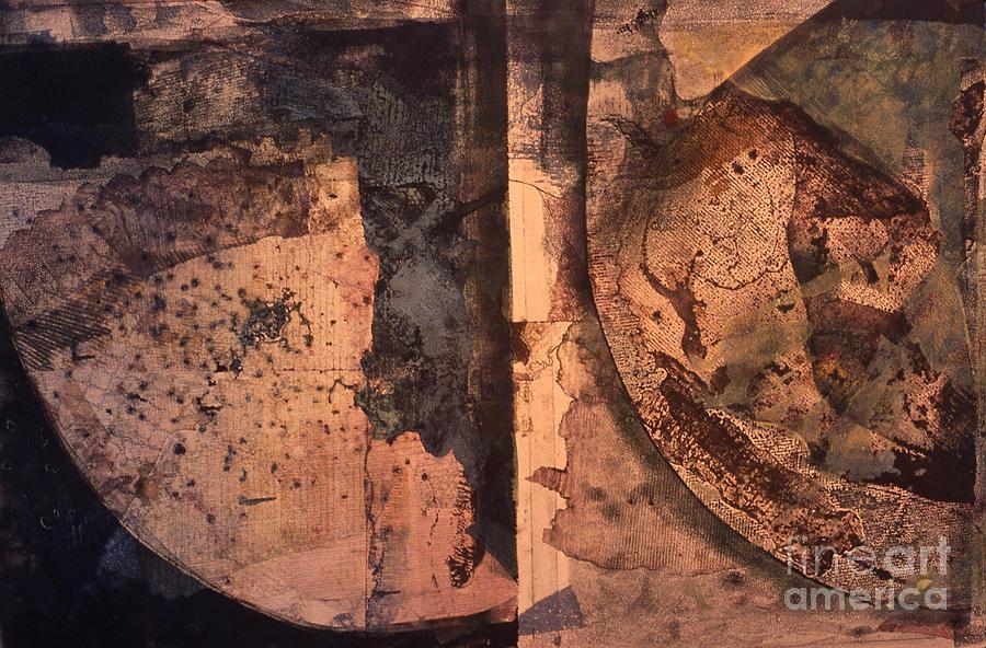 Abstract Trax I Mixed Media by Charles B Mitchell