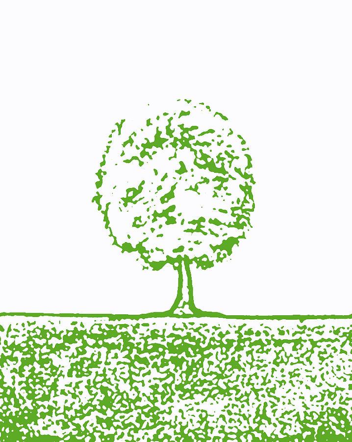 Tree Painting - Abstract Tree By Shawna Erback by Shawna Erback