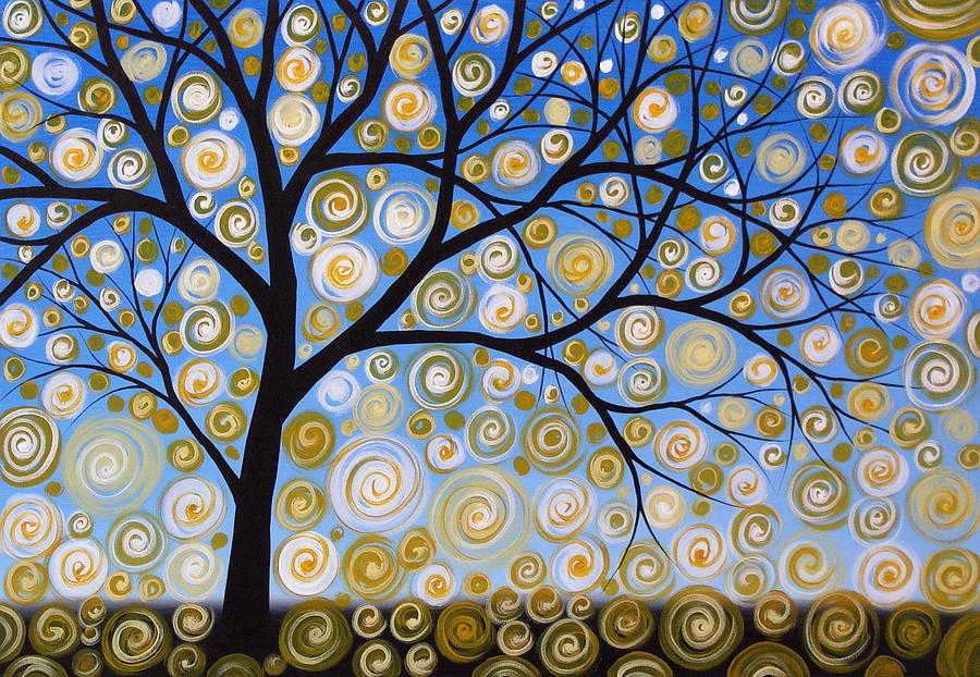 Abstract tree nature original painting starry starry by for Abstract nature painting