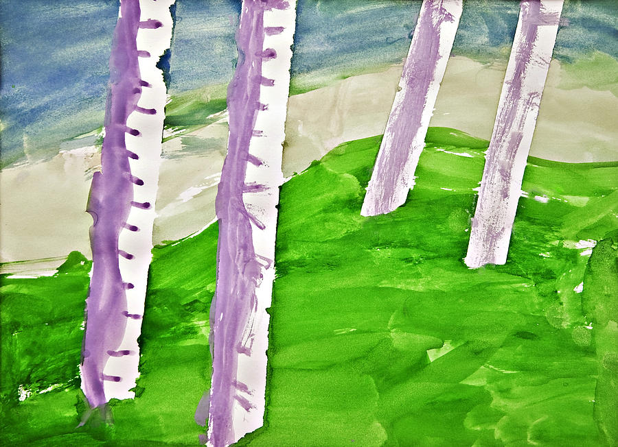 Abstract Photograph - Abstract Trees by Susan Leggett