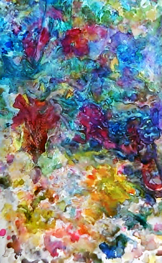 Abstracted Garden2 Painting by AnneLise McCoy