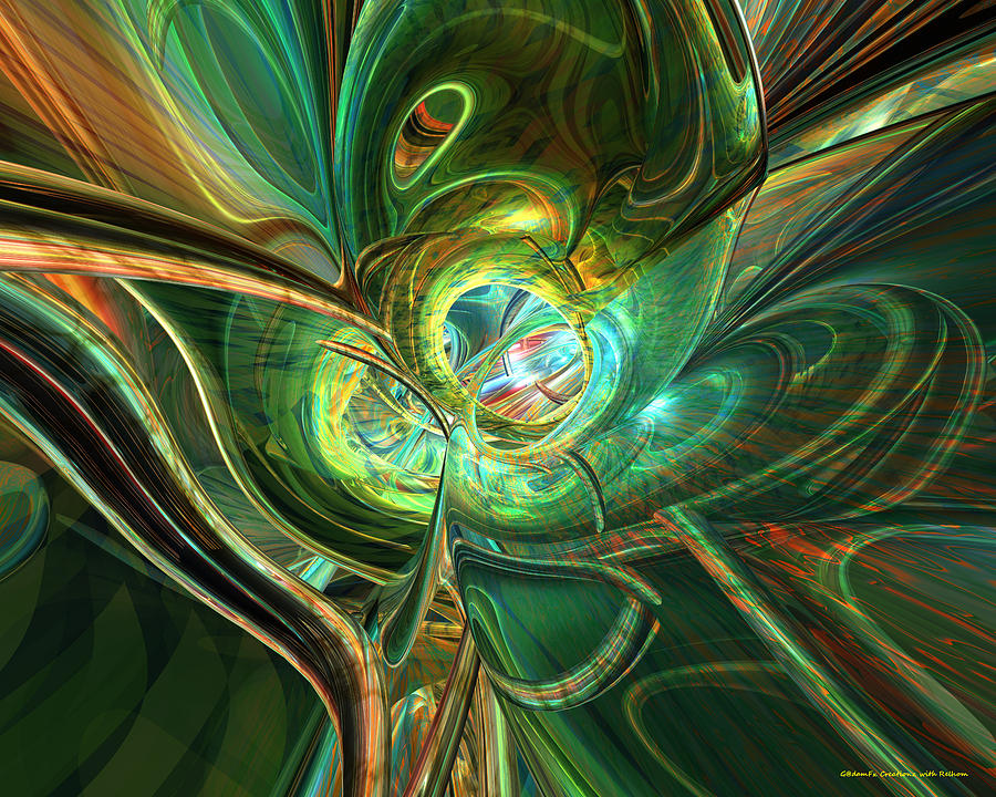 Metal Digital Art - Abstracted One Love Fx  by G Adam Orosco