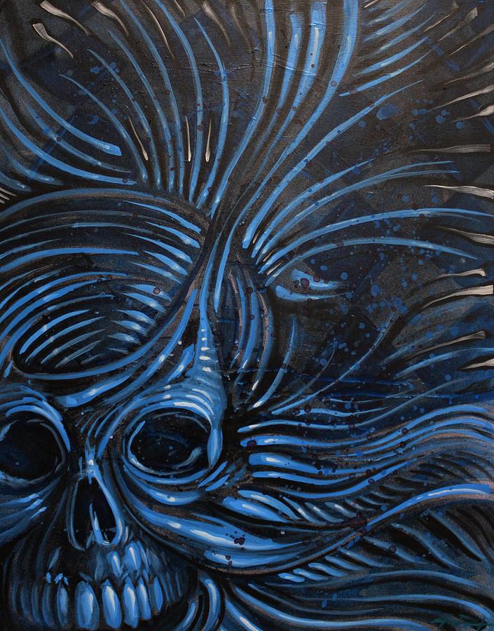 Skull Painting - Abstracted Skull by Joshua Dixon