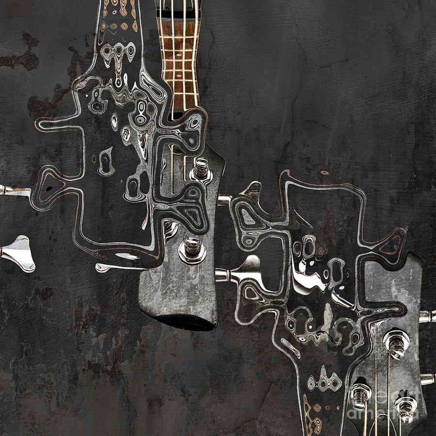 Guitar Digital Art - Abstrait En Do Majeur A2 by Aimelle