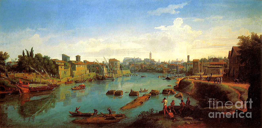 Rome Painting - Accademia Nazionale Di San Luca By Caspar Van Wittel by Pg Reproductions
