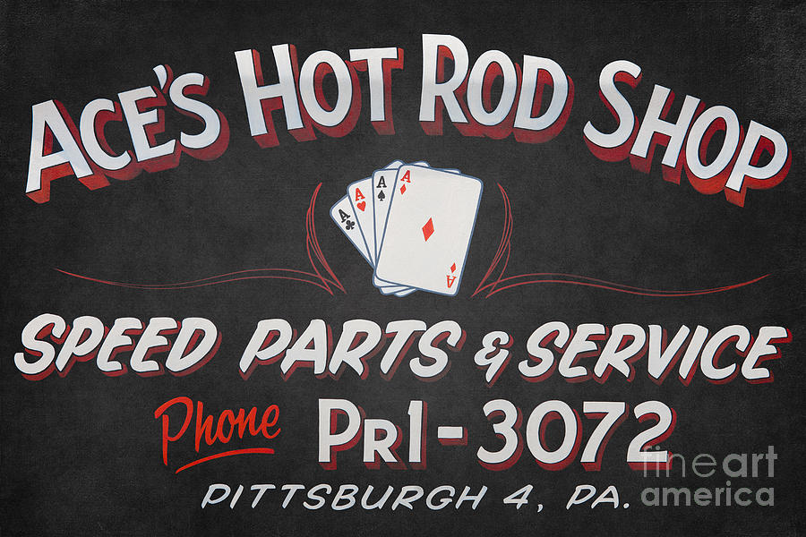 America Photograph - Aces Hot Rod Shop by Clarence Holmes