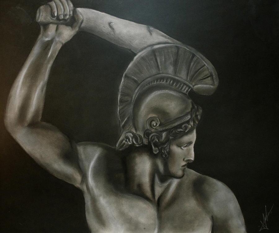 Achilles Pastel - Achilles by Adrian Rodriguez