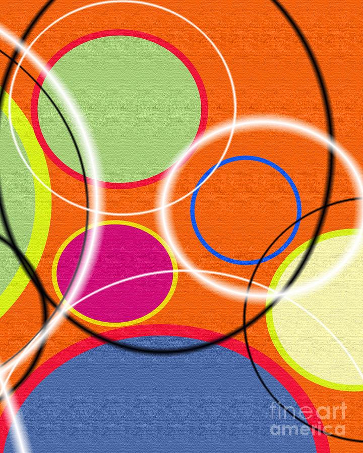 Tangerine Painting - Acme Retro Vi by Ricki Mountain