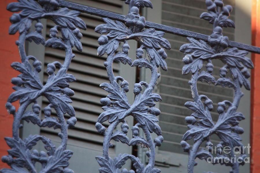 Balcony Photograph - Acorn Railing In New Orleans by Carol Groenen