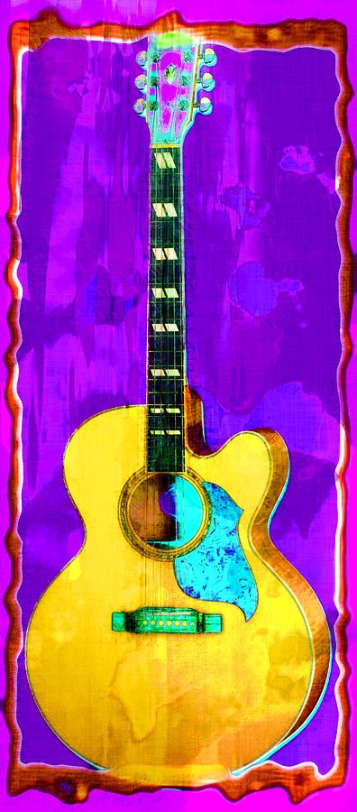 Guitar Photograph - Acoustic Guitar Abstract by David G Paul
