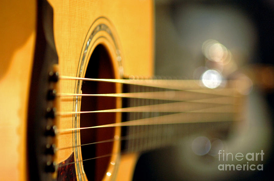 Music Photograph - Acoustic Guitar by Gib Martinez