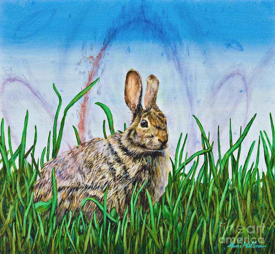 Rabbit Painting - Acquiesence of the Omnificent by Aaron Wilbers