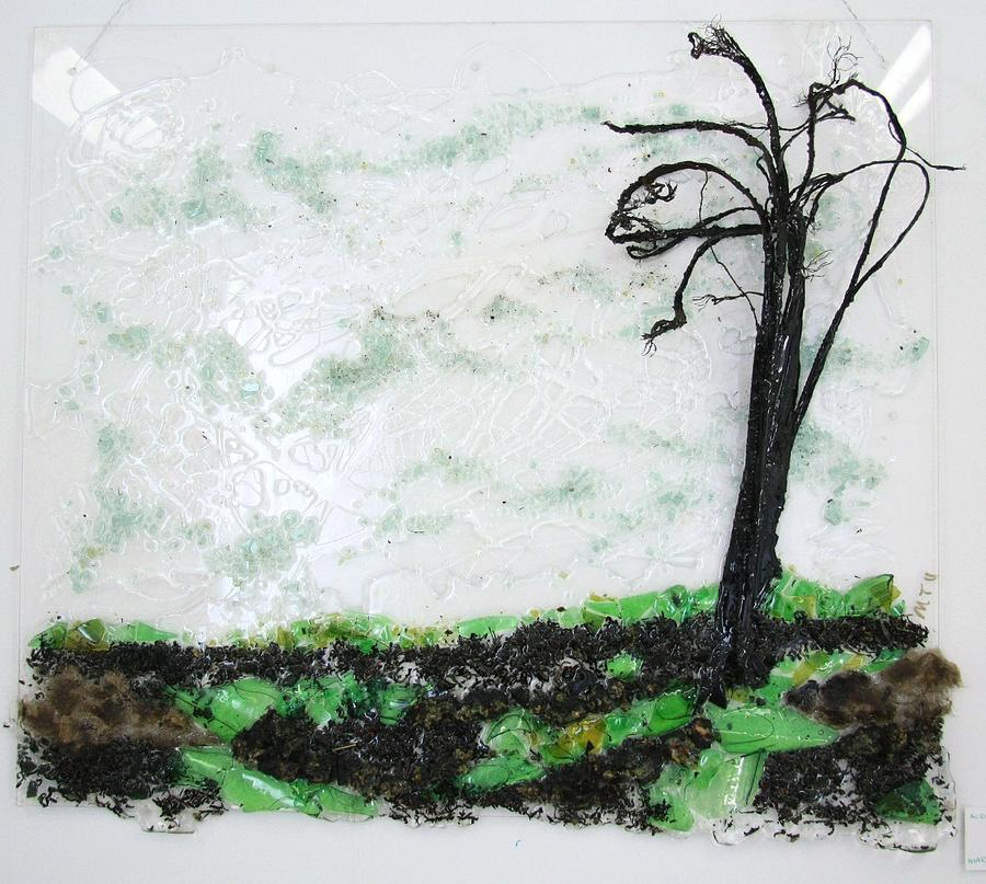 Tree Relief - Across The Field by Mariann Taubensee