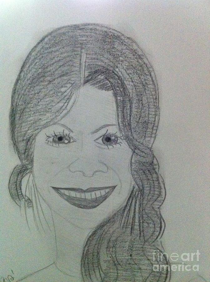 Movie Star Drawing - Actress Zoe S. by Charita Padilla