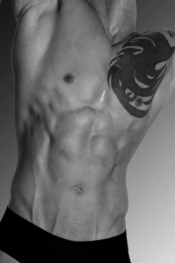 Body Photograph - Adam 4 by Mark Ashkenazi