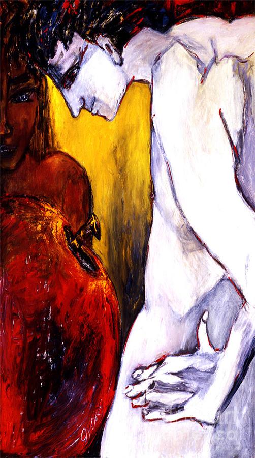 Giclee Digital Art - Adam And Eve by Eszter Gyory