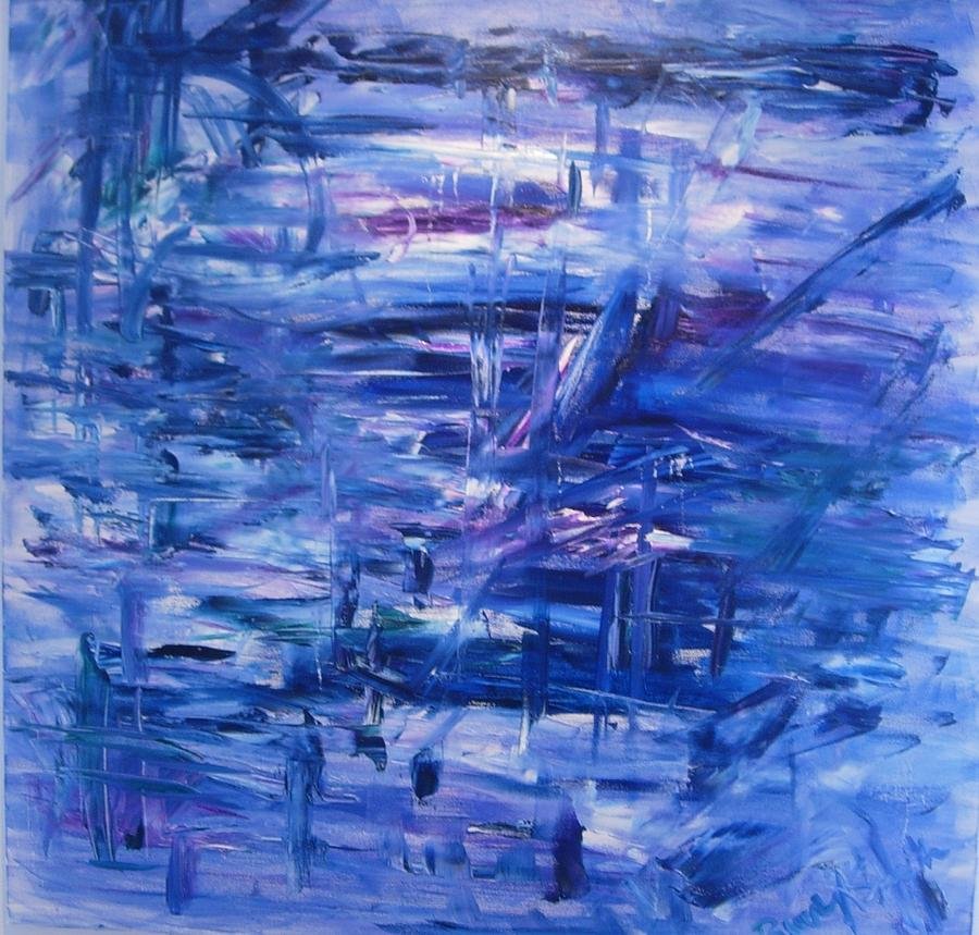Abstract Painting - Adams Landing by Beverly Smith