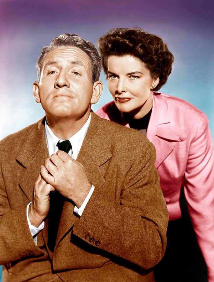 Hepburn Photograph - Adams Rib, From Left Spencer Tracy by Everett
