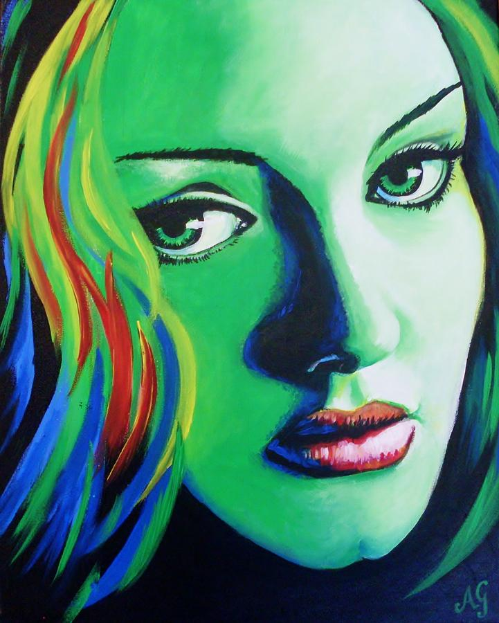 Acrylic Painting - Adele - Rumour by Anne Gardner