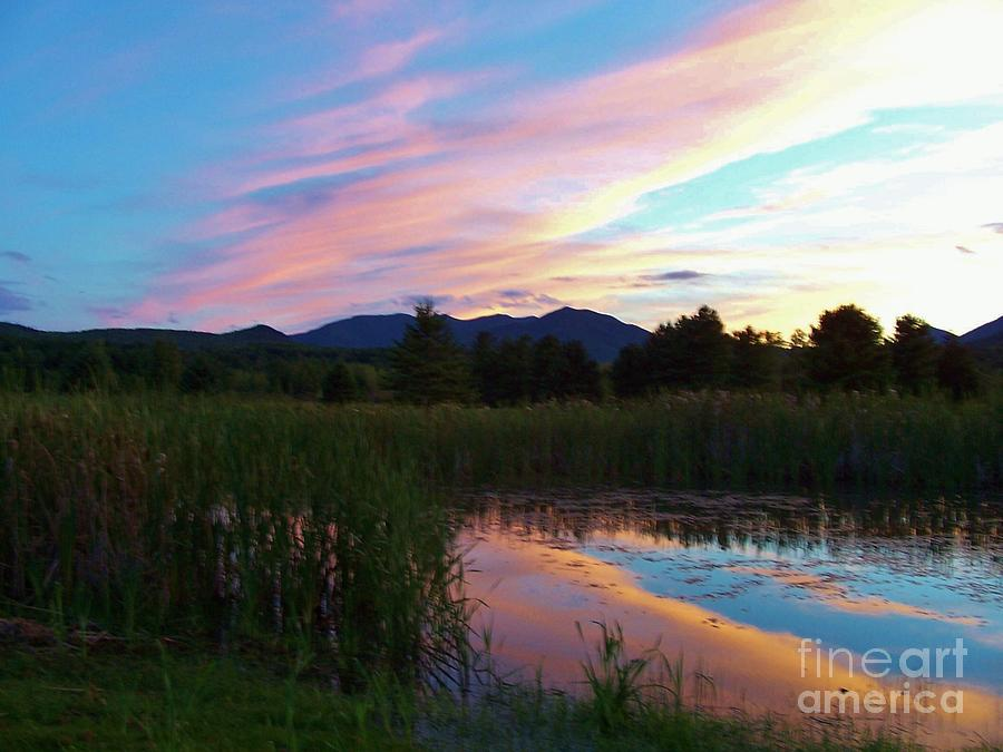 Sunset Photograph - Adirondack Reflections 2 by Peggy Miller