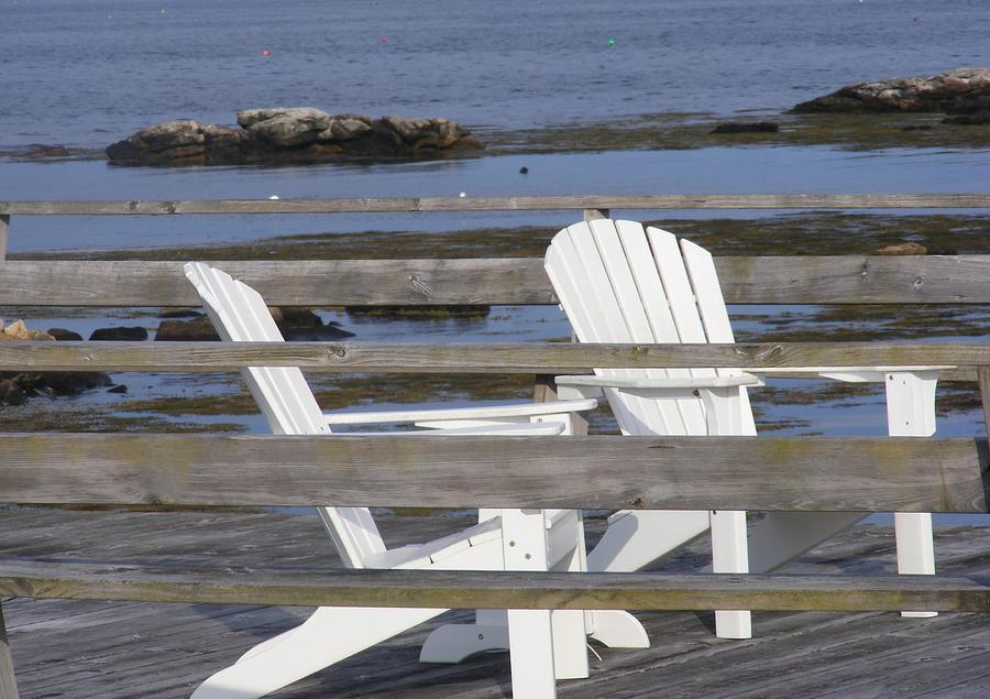 Adirondack Chairs Photograph - Adirondack Relaxin by Carol Bruno