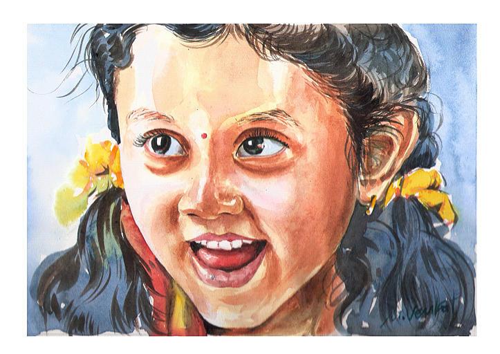 Adivetha Painting by Venkat Meruvu