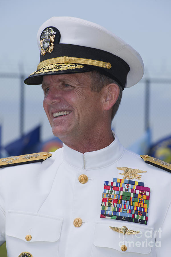 Military Photograph - Admiral Eric T. Olson Speaks by Michael Wood