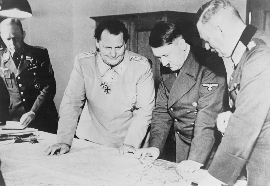 History Photograph - Adolf Hitler, Hermann Goring, And Field by Everett