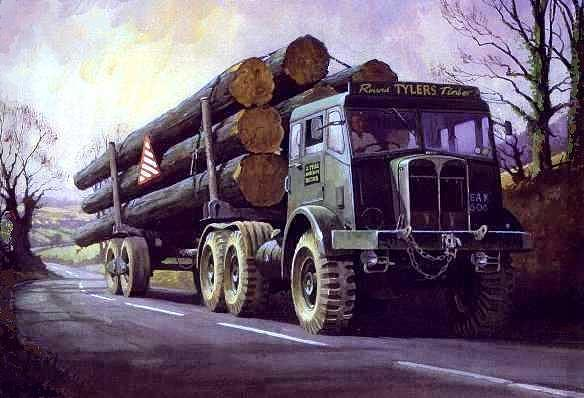 Aec Painting - Aec Militant On Round Timber. by Mike Jeffries