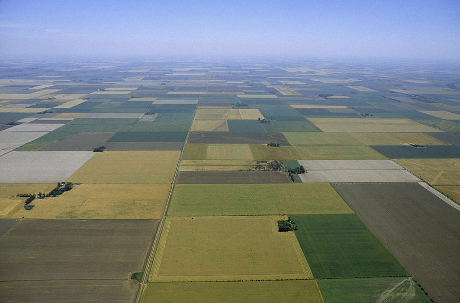 South America Photograph - Aerial Of Agricultural Fields by James P. Blair