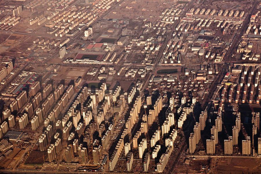 Horizontal Photograph - Aerial View Of Beijing Suburb, Tongzhou Distr by Jialiang Gao