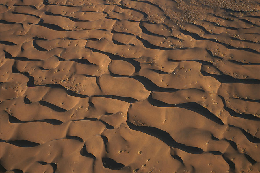 Aerial View Of Sand Dunes Photograph by Pete Oxford