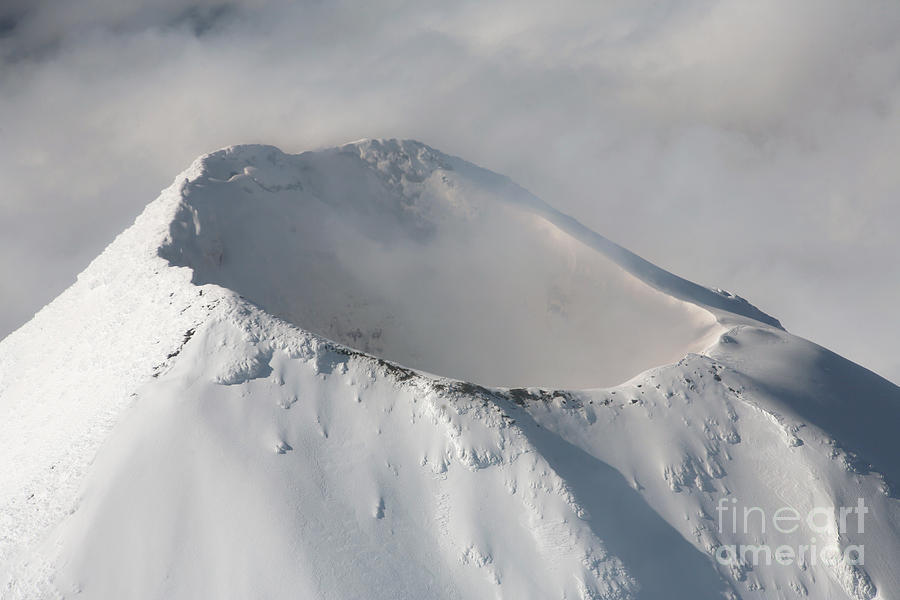 Alaska Photograph - Aerial View Of Summit Of Shishaldin by Richard Roscoe