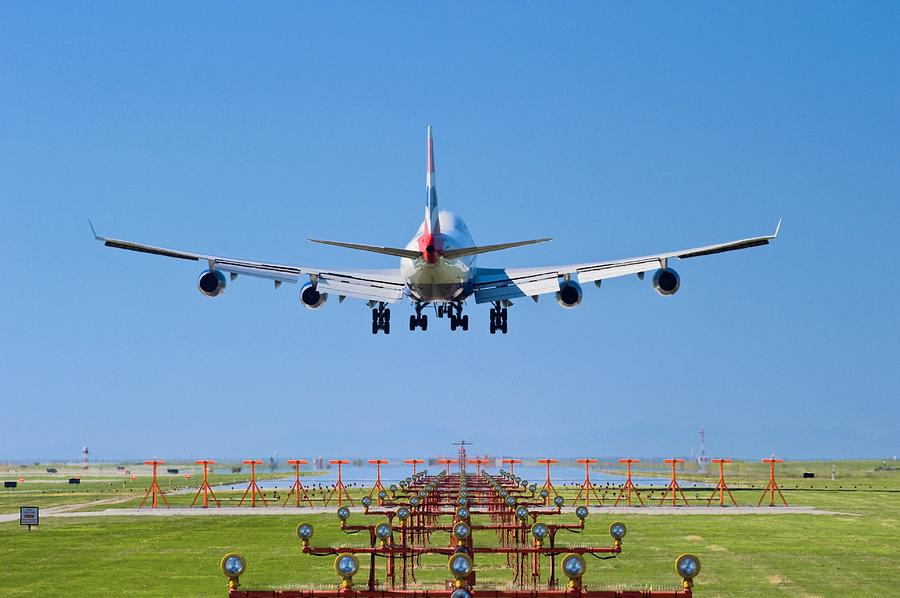 Boeing 747 Photograph - Aeroplane Landing, Canada by David Nunuk