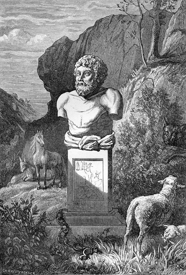 Aesop Photograph - Aesop, Ancient Greek Fabulist by
