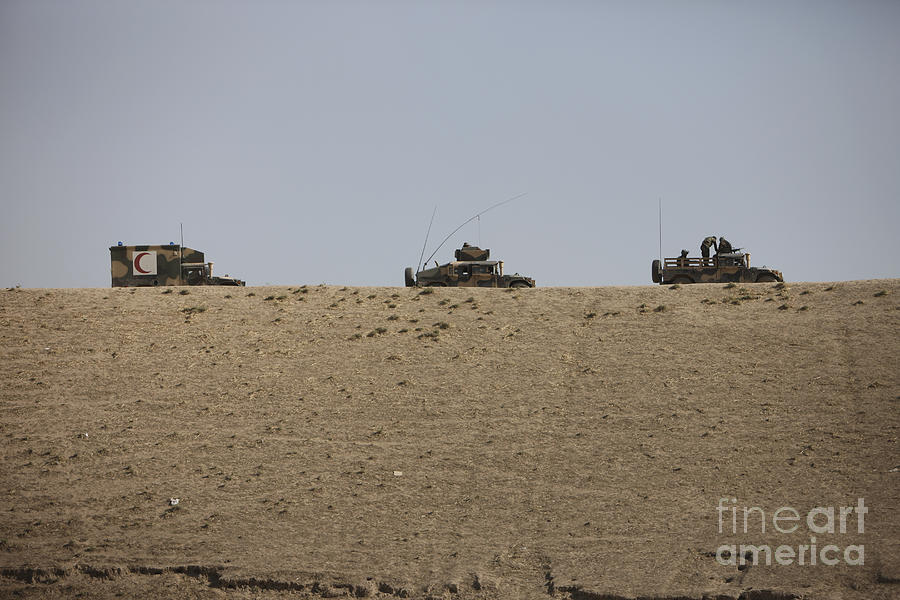 Vehicle Photograph - Afghan Army Convoy Drives by Terry Moore