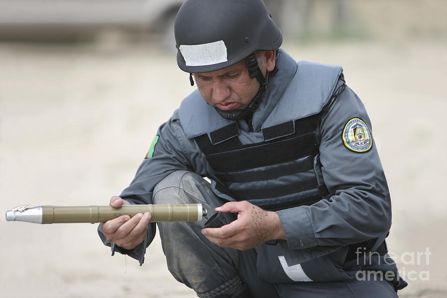 Police Photograph - Afghan Police Student Prepares by Terry Moore