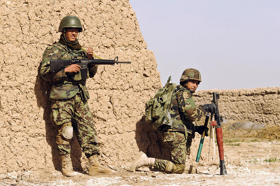 Afghanistan Photograph - Afghan Soldiers Conduct A Dismounted by Stocktrek Images