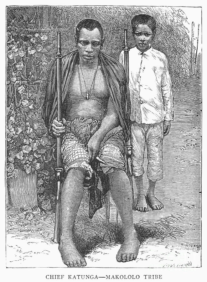 1889 Photograph - Africa: Makololo Chief by Granger