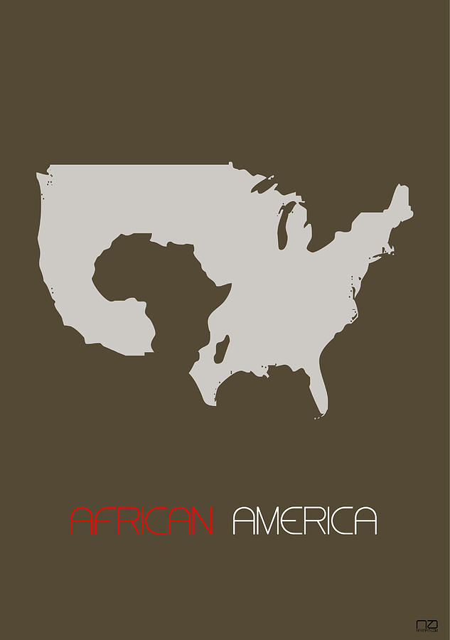 Africa Digital Art - African America Poster by Naxart Studio