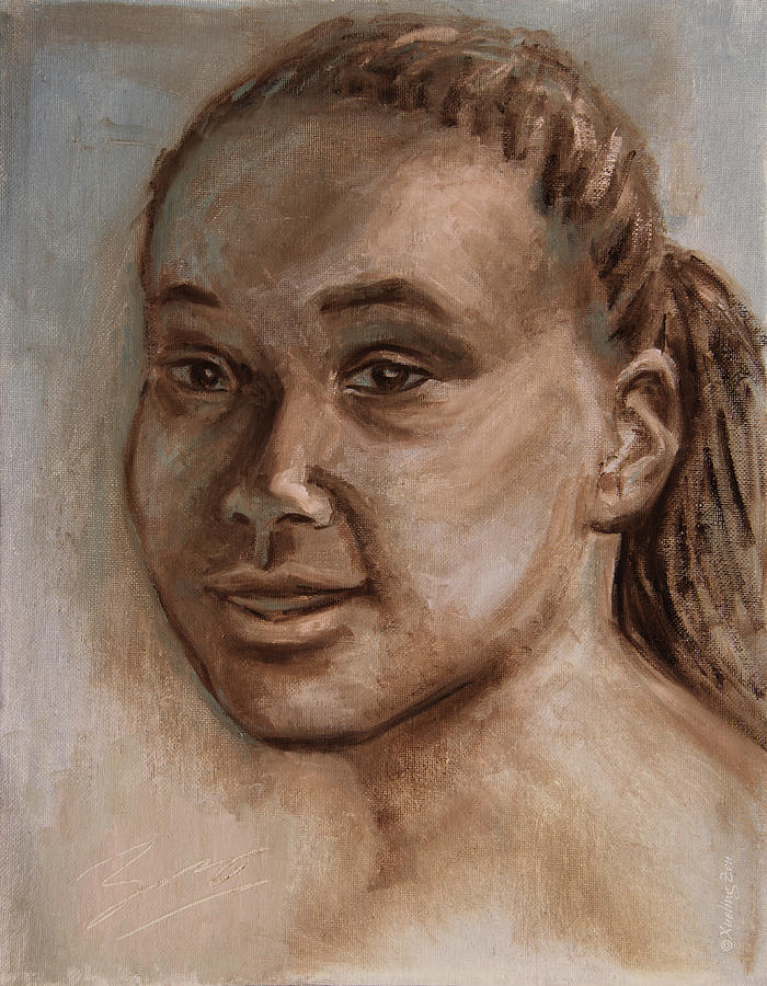 Mona Lisa Painting - African American 2 by Xueling Zou