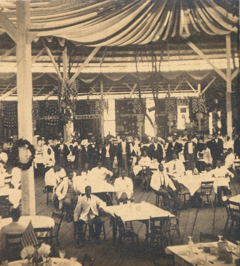 History Photograph - African American Waiters At A Banquet by Everett