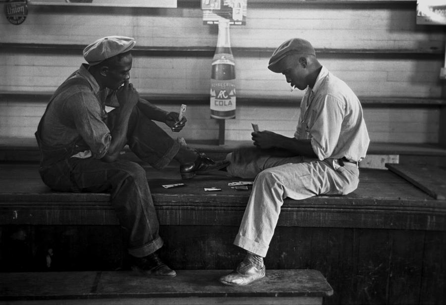 History Photograph - African American Young Men Play A Card by Everett