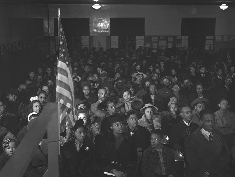 History Photograph - African Americans At A Tenants Meeting by Everett