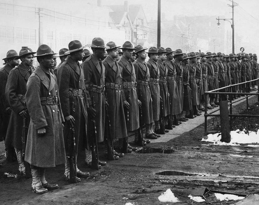 1940s Photograph - African Americans In The U.s. Army by Everett