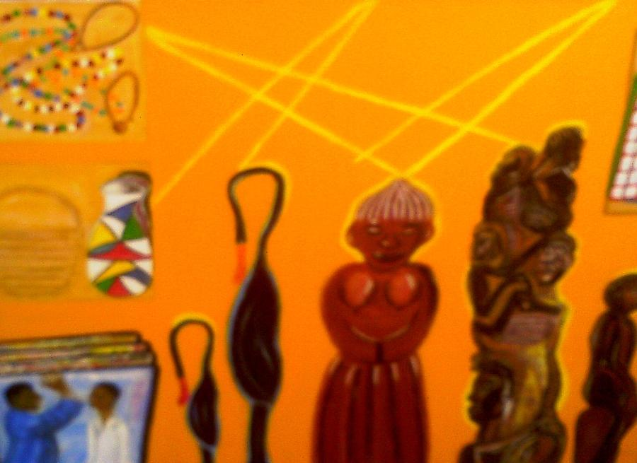Arts & Crafts Painting - African Arts And Crafts by Annette Stovall